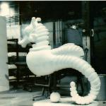 "6' high carved sea horse for ""The Nutcracker""  Milwaukee Ballet"